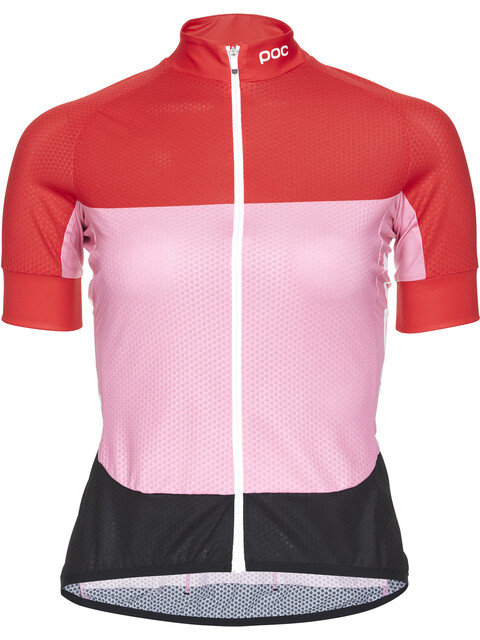 POC Essential Road SS Light Jersey Women prismane red/altair pink